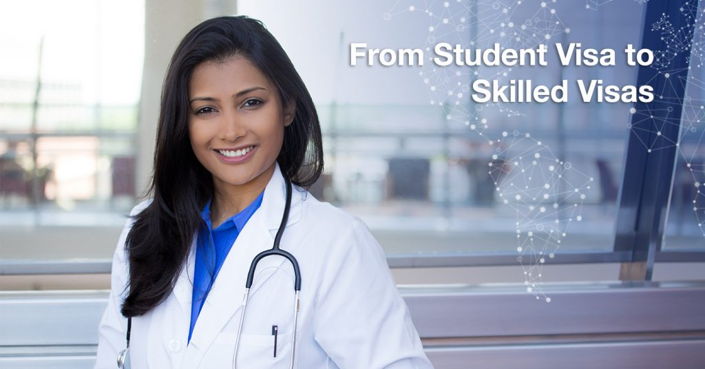 student visa to skilled visas